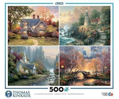 Thomas Kinkade: 4 in 1 Multi-Pack - 500pc Jigsaw Puzzle by Ceaco