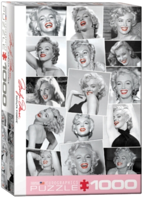 Marilyn Monroe Red Lips by Bernard of Hollywood - 1000pc Jigsaw Puzzle by Eurographics