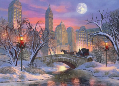 Christmas Eve in New York City by Dominic Davison - 1000pc Jigsaw Puzzle by Eurographics