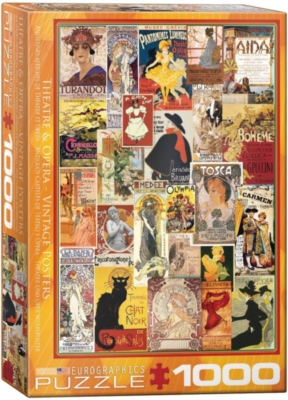 Theater & Opera Vintage Posters - 1000pc Jigsaw Puzzle by Eurographics