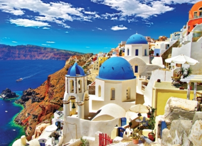 Oia Santorini Greece - 1000pc Jigsaw Puzzle by Eurographics