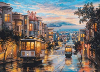 San Francisco Cable Car Heaven by Eugene Lushpin - 1000pc Jigsaw Puzzle by Eurographics