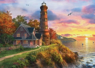 The Old Lighthouse by Dominic Davison - 1000pc Jigsaw Puzzle by Eurographics