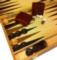 "18"" Burlwood Backgammon - Classic game"
