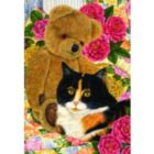Country Cats: Bear Comfort - 500pc Jigsaw Puzzle by Holdson