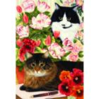Country Cats: Desk Mates - 500pc Jigsaw Puzzle by Holdson