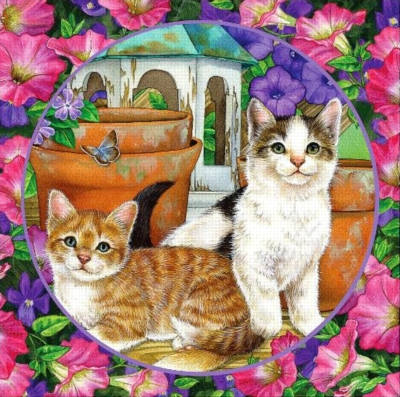 Flower Friends: Petunia Pals - 500pc Jigsaw Puzzle by Holdson