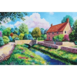 Summer Times: The Stone Bridge - 500pc Jigsaw Puzzle by Holdson