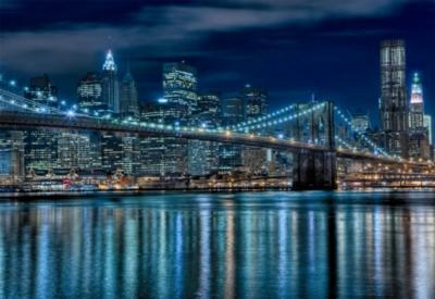 Manhattan at Night - 1000pc Jigsaw Puzzle By Educa