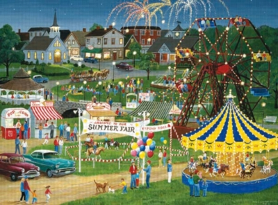 Country Fair - 1000pc Jigsaw Puzzle by Lafayette Puzzle Factory