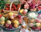 Variety of Ice Cream with Strawberries and Roses - 1500pc Jigsaw Puzzle by Lafayette Puzzle Factory