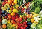 Fresh Fruits and Vegetables - 1500pc Jigsaw Puzzle by Lafayette Puzzle Factory