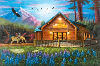 Cozy Cabin - 500pc Jigsaw Puzzle by Lafayette Puzzle Factory