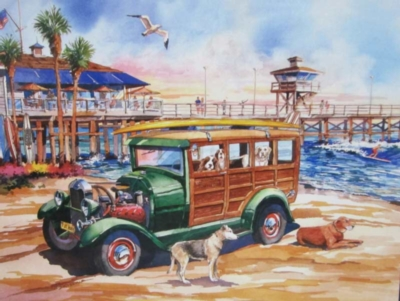 Dog Days of Summer - 1000pc Jigsaw Puzzle by Lafayette Puzzle Factory