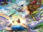 Sky Fairy Queen - 750pc Jigsaw Puzzle by Lafayette Puzzle Factory