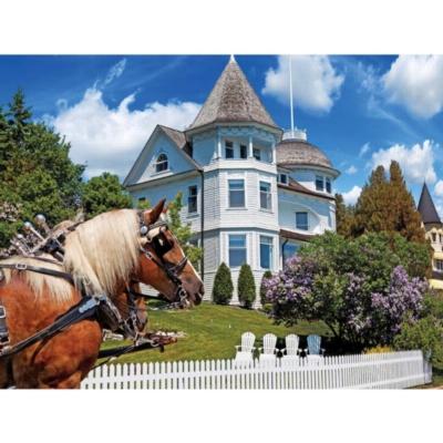 The Wedding Cake Cottage, Mackinac Island, MI - 1000pc Jigsaw Puzzle by Lafayette Puzzle Factory