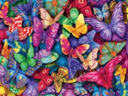 Colorful Butterflies - 500pc Jigsaw Puzzle by Lafayette Puzzle Factory