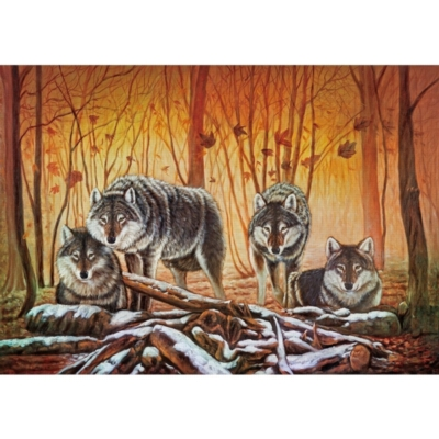 The Wolf Lair - 1000pc Jigsaw Puzzle by Lafayette Puzzle Factory