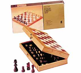 "Chess in a Box with 15"" Board - Chess Set"