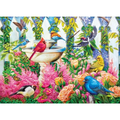 Fountain Gathering - 1000pc Jigsaw Puzzle by Lafayette Puzzle Factory
