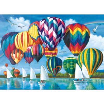 Hot Air Balloons - 1000pc Jigsaw Puzzle by Lafayette Puzzle Factory