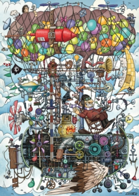 Gumperts Flying Machine - 1000pc Jigsaw Puzzle by Schmidt