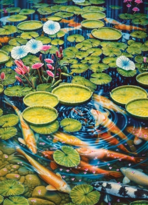 Koi Pond - 1000pc Jigsaw Puzzle by Cobble Hill