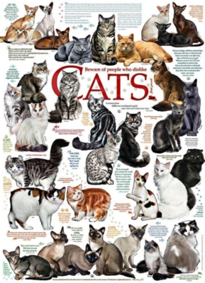 Cat Quotes - 1000pc Jigsaw Puzzle by Cobble Hill