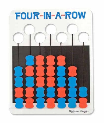 Four-in-a-row - Flip to Win Travel Game
