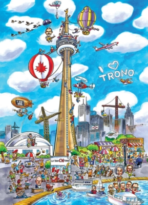 DoodleTown: Toronto - 1000pc Jigsaw Puzzle by Cobble Hill