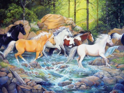 The Horse Crossing - 400pc Family Puzzle by Cobble Hill
