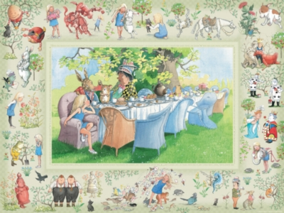 Alice's Adventures in Wonderland - 400pc Family Puzzle by Cobble Hill