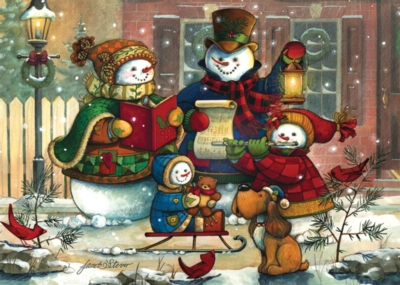 Snowman Family - 35pc Tray Puzzle by Cobble Hill