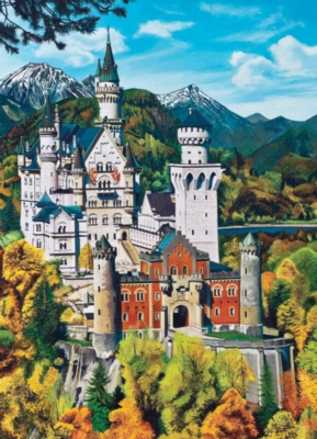 Bavarian Castle - 1000pc Jigsaw Puzzle by Jack Pine