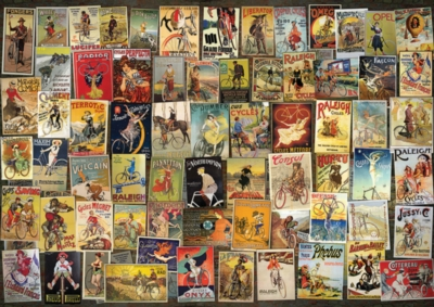 Vintage Poster: Bicycle Collage - 1000pc Jigsaw Puzzle by D-Toys