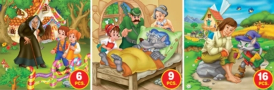 Fairy Tales - Series 1 - 6pc, 9pc, 16pc Jigsaw Puzzle by D-Toys