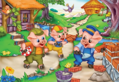 Three Little Pigs - 24pc Jigsaw Puzzle by D-Toys