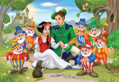 Snow White Family Portrait - 60pc Jigsaw Puzzle by D-Toys