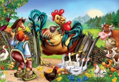 One Giant Rooster - 60pc Jigsaw Puzzle by D-Toys