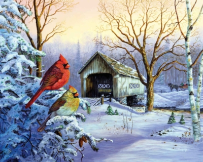 Snowy Haven - 1000pc Jigsaw Puzzle By Springbok