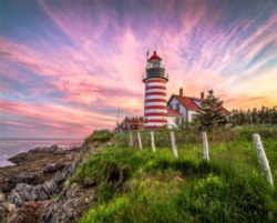 West Quoddy Head Lighthouse - 1000pc Jigsaw Puzzle By Springbok
