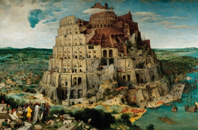 Tower of Babel Glow in the Dark 300 piece puzzle