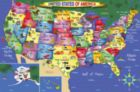 USA Map Floor Puzzle - 48pc Jigsaw Puzzle By White Mountain