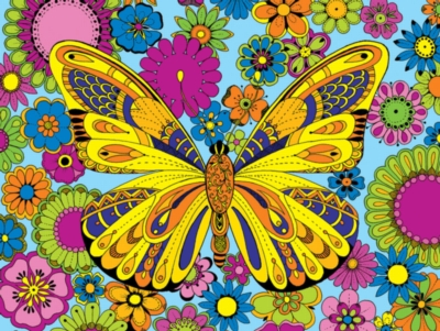 June Butterfly-Coloring Puzzle - 300pc Jigsaw Puzzle By White Mountain