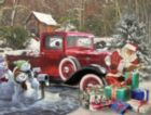 Santa and Truck - 1000pc Jigsaw Puzzle By White Mountain