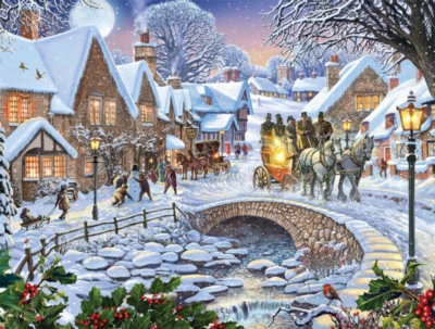 Winter Village - 1000pc Jigsaw Puzzle By White Mountain