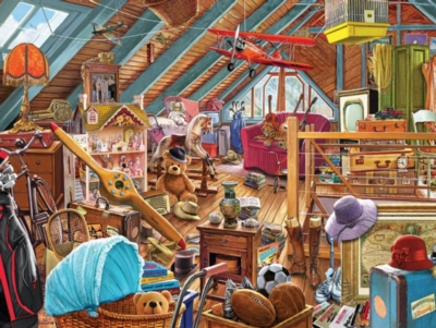 Attic Memories - 550pc Jigsaw Puzzle By White Mountain