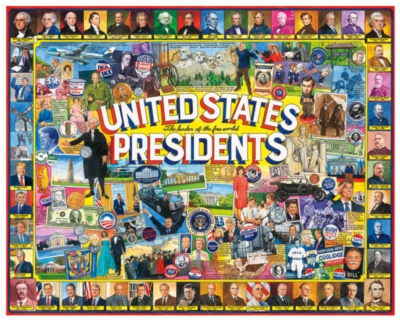 US Presidents Collage (Available Winter 2016) - 1000pc Jigsaw Puzzle By White Mountain