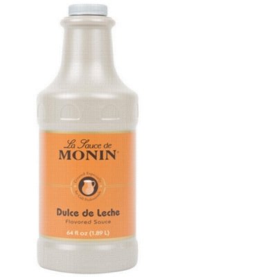 Monin Gourmet Dulce de Leche Sauce - 64 oz. Bottle