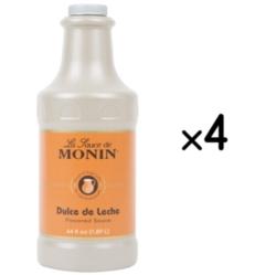 Monin Gourmet Dulce de Leche Sauce - 64 oz. Bottle Case